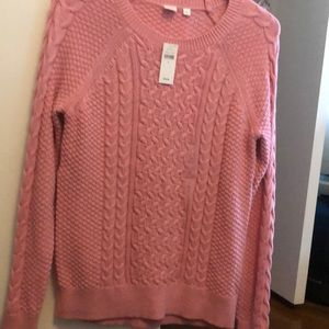 pink gap sweater